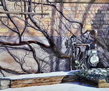 Sylvie Verwaayan dog painting